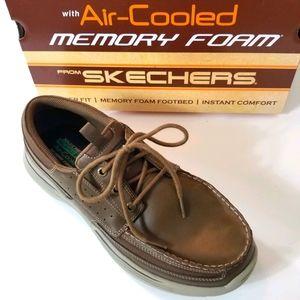 Men's Skechers Memory Foam Boat Shoes Loafers